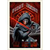 "Star Wars Episode VII: The Force Awakens ""First Order Ren"" Small Unframed Canvas Giclee Fine Art Print by Mike Kungl [26"" x 18""] - Acme Archives Limited Edition 95 Pieces :: Mental XS Online"
