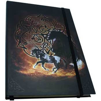 Celtic Horse Metallic Accented Embossed Unlined Journal by Brigid Ashwood (8