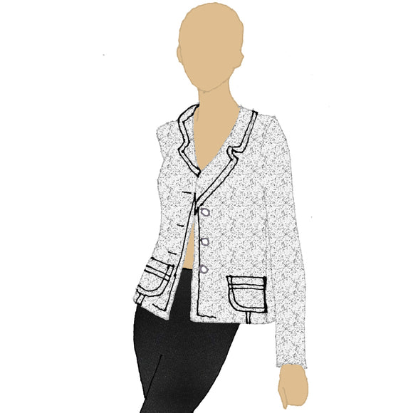 Contrast Stitch Blazer from K by Katerina at Mental XS