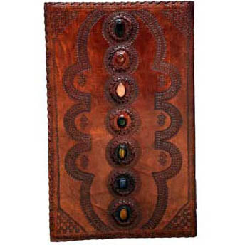 7-Chakra Gemstone Embossed Leather Unlined Journal (22