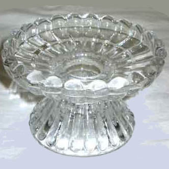 Glass Universal Fluted Candle Holder