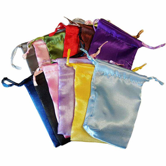 Satin Drawstring pouches (various colors) 3