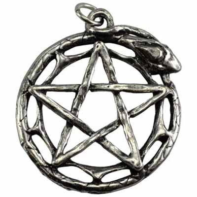 Magical World Pentacle Amulet Pewter Pendant (has cord) :: Mental XS Online