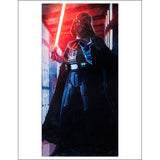 "Star Wars Episode IV: A New Hope ""Confronting Vader"" Unframed Paper Giclee Fine Art Print by Cliff Cramp [22"" x 17""] - Acme Archives Limited Edition 77 Pieces :: Mental XS Online"