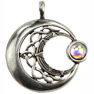 Venus Rising Celestial Amulet with Gemstone Pewter Pendant (has cord) :: Mental XS Online