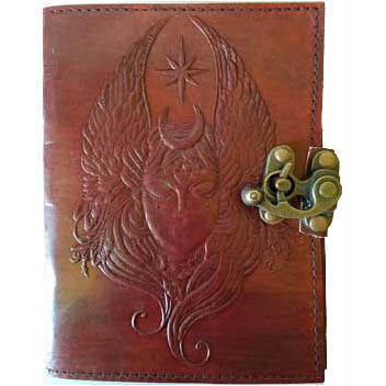 Moon Goddess Embossed Leather Unlined Journal with Latch (7
