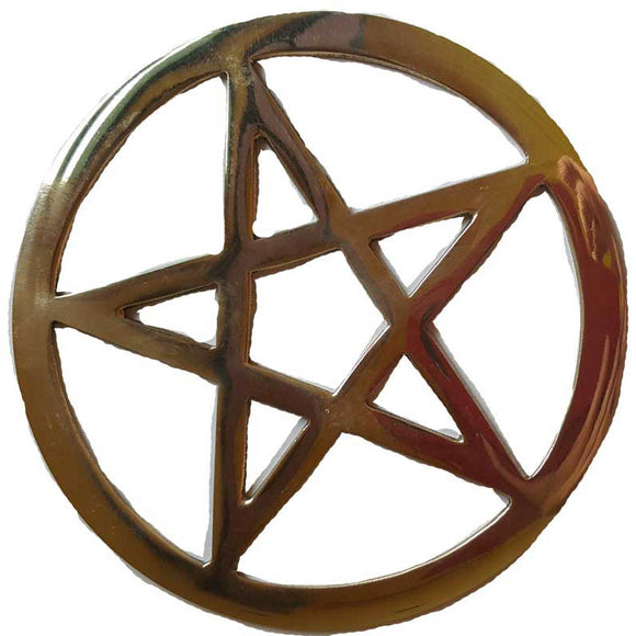 Gold Plated Pentacle Altar tile 5.75
