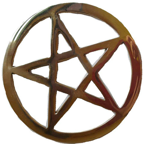 Gold Plated Pentacle Altar tile 5.75""
