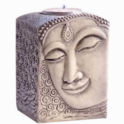 Buddha Cold-Cast Resin Tealight Candle Holder
