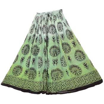 Green Goddess Tie-dyed Skirt
