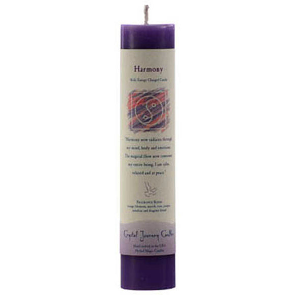 Crystal Journey Candles Purple Harmony Reiki-Charged Pillar Candle 7
