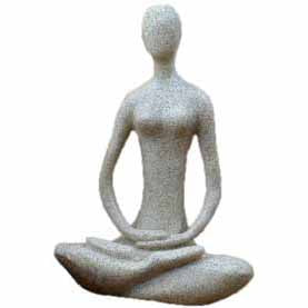 Lotus Yoga Goddess Sandstone Resin Statue 8⅞