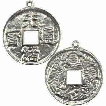 Wealth & Happiness Talisman Pewter Pendant (has cord) :: Mental XS Online