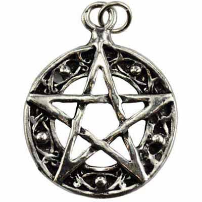 Harmony Pentacle Talisman Pewter Pendant (has cord) :: Mental XS Online