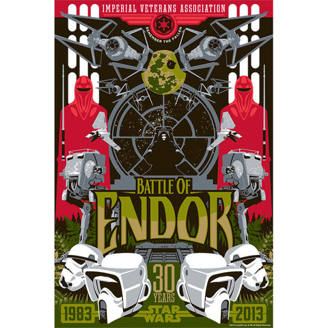 "Star Wars Episode VI: Return of the Jedi ""Battle of Endor"" Unframed Paper Giclee Fine Art Print [19"" x 13""] - Acme Archives Limited Edition  Pieces :: Mental XS Online"