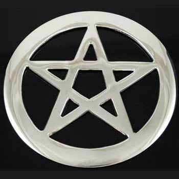Silver Plated Pentacle Altar tile 4