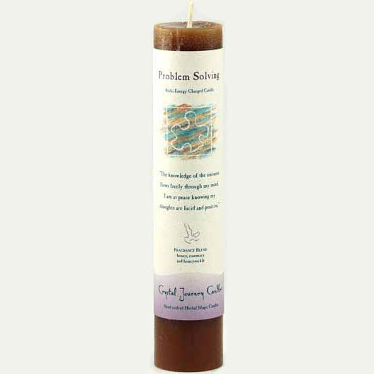 Crystal Journey Candles Brown Problem Solving Reiki-Charged Pillar Candle 7