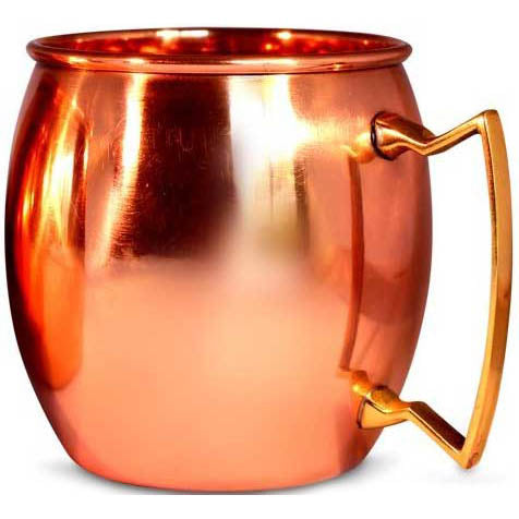 Copper Moscow Mule Curved Mug (16oz)