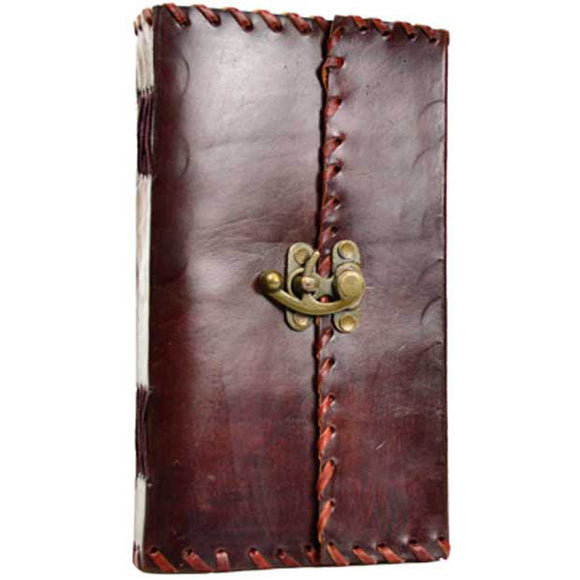 1842 Poetry Leather Journal with Latch by Poetic Earth :: Mental XS Online