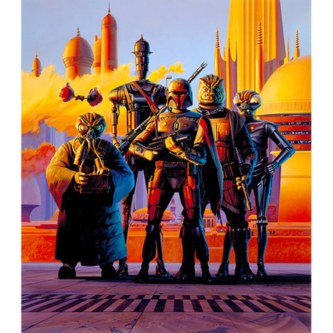 "Star Wars Episode V: The Empire Strikes Back ""Scourge of the Galaxy Bounty Hunter"" Unframed Paper Giclee Fine Art Print by Ralph McQuarrie [22"" x 17""] - Acme Archives Limited Edition 125 Pieces :: Mental XS Online"