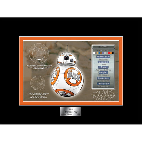 "Star Wars Episode VII: The Force Awakens ""BB-8"" Character Key Unframed Metallic Lithograph Cel Art Print [6"" x 8""] - Acme Archives Limited Edition 1,000 Pieces :: Mental XS Online"