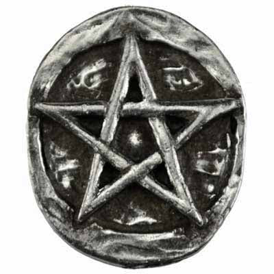 Pentacle Pewter Pocket Stone :: Mental XS Online