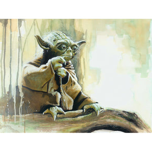 "Star Wars Episode V: The Empire Strikes Back ""Yoda Size Matters Not"" Unframed Paper Giclee Fine Art Print by Brian Rood [13"" x 19""] - Acme Archives Limited Edition 125 Pieces :: Mental XS Online"