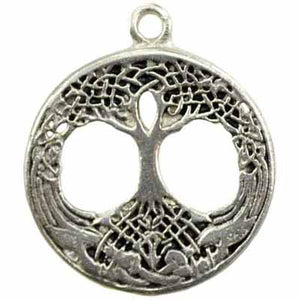 Celtic Tree of Life Above & Below Amulet Pewter Pendant (has cord) :: Mental XS Online