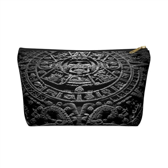 Aztec Calendar Accessory Pouch with T-bottom (Front) from Mental XS Online