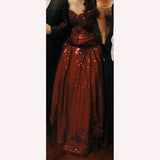 Vampire Diaries 3x14 Elena Gilbert Mikaelson Ball Gown - Blood Red/Burgundy (US 4-14) from The Costume Portal at Mental XS Online
