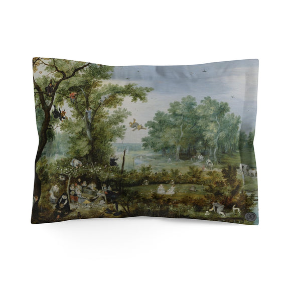 Merry Company in an Arbor by Adriaen van de Venne Pillow Case (Standard) :: Mental XS Online EXCLUSIVE