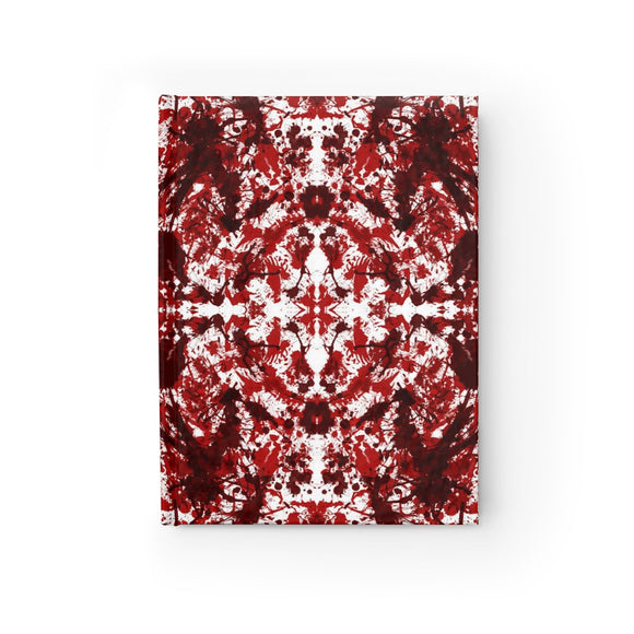 Red Kaleidoscope Hardcover Lined Journal 8