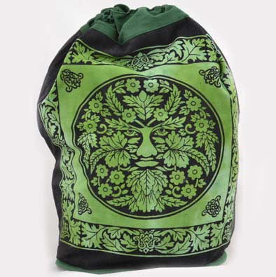 Green Man Canvas Backpack