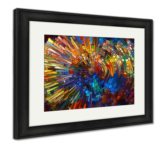 Framed Print, Toward Digital Stained Glass