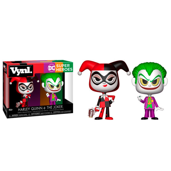 DC Comics Harley Quinn & The Joker Vynl Figures - Official FUNKO :: Mental XS Online