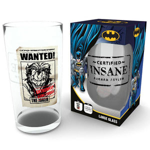 DC Comics Batman Comic Joker Insane Pint Glass - Official GB EYE :: Mental XS Online