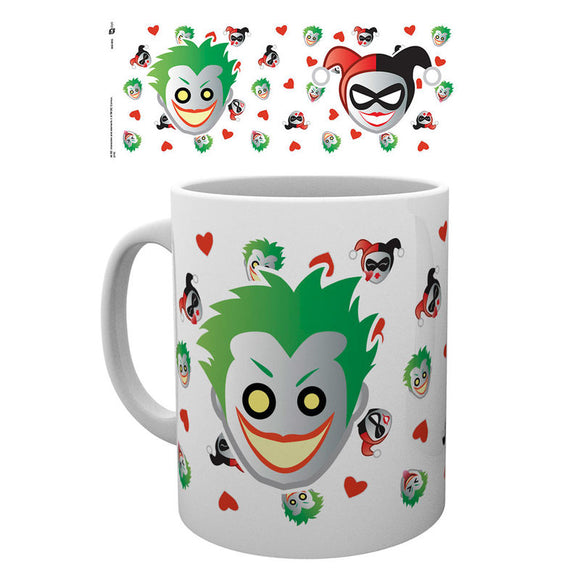 DC Comics Emoji Harley & Joker Green Mug - Official GB EYE :: Mental XS Online
