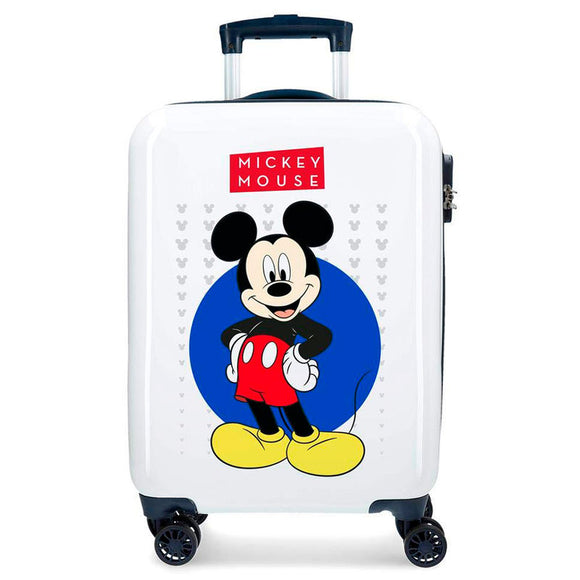 Disney Mickey Enjoy the Day Blue ABS 4-way Trolley Suitase - Official NEXT DOOR UNIVERSAL :: Mental XS Online