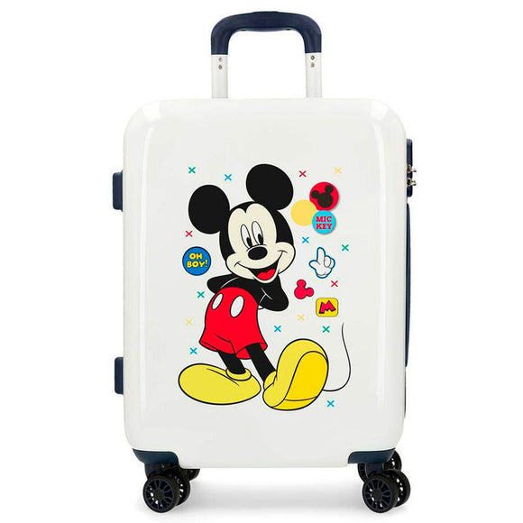Disney Mickey Mouse Enjoy the Day Oh Boy ABS 4-way Trolley Suitcase - Official NEXT DOOR UNIVERSAL :: Mental XS Online