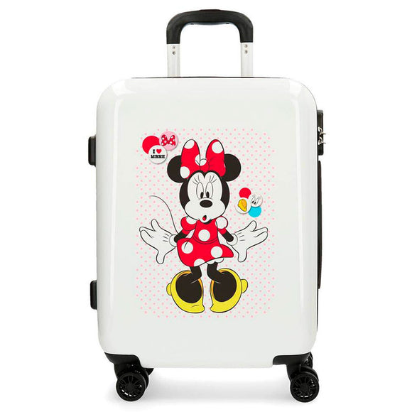Disney Minnie Mouse Enjoy the Day Love ABS 4-way Trolley Suitcase - Official NEXT DOOR UNIVERSAL :: Mental XS Online