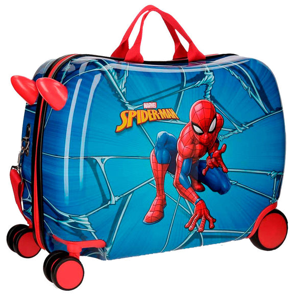 Marvel Comics Spiderman Children's ABS 4-way Suitcase - Directional - Official NEXT DOOR UNIVERSAL :: Mental XS Online