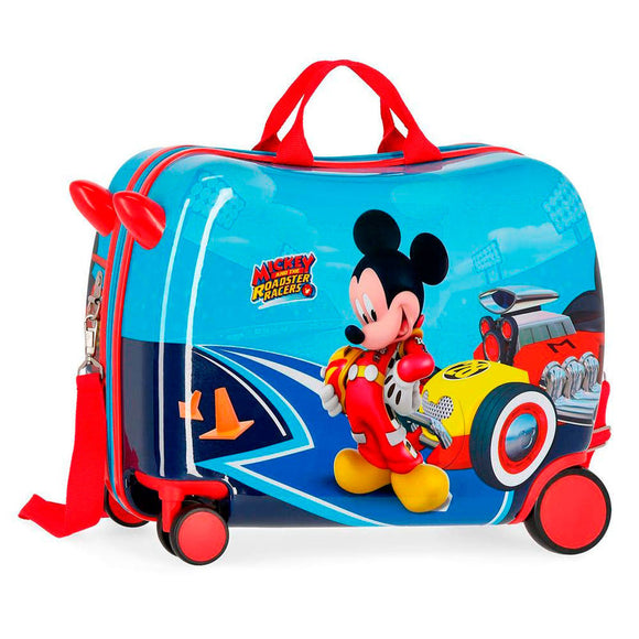 Disney Lets Roll Mickey Mouse Children's ABS 4-way Suitcase - Official NEXT DOOR UNIVERSAL :: Mental XS Online