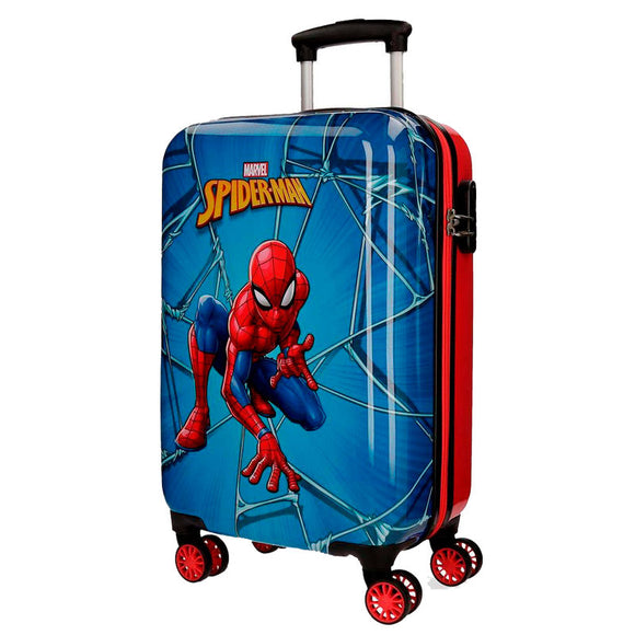 Marvel Comics Spiderman ABS 4-way Trolley Suitcase - Official NEXT DOOR UNIVERSAL :: Mental XS Online