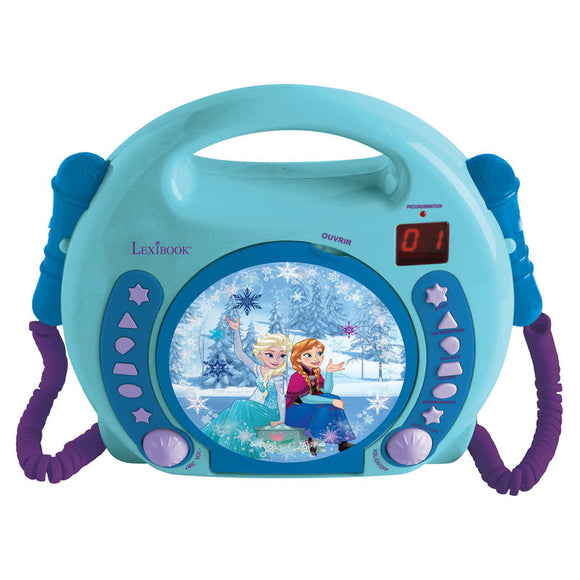 Disney Frozen CD Player with Microphones - Official LEXIBOOK :: Mental XS Online