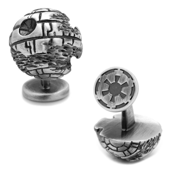 Star Wars Death Star II 3D Sterling Silver Cufflinks - Official Cufflinks Inc :: Mental XS Online