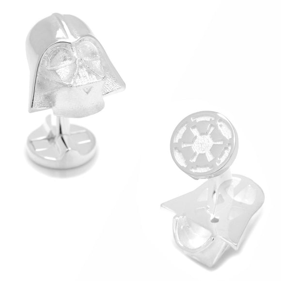 Star Wars Darth Vader Helmet 3D Sterling Silver Cufflinks - Official Cufflinks Inc :: Mental XS Online