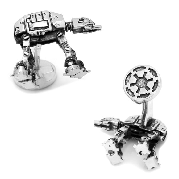 Star Wars Imperial Walker 3D Silver Cufflinks - Official Cufflinks Inc :: Mental XS Online