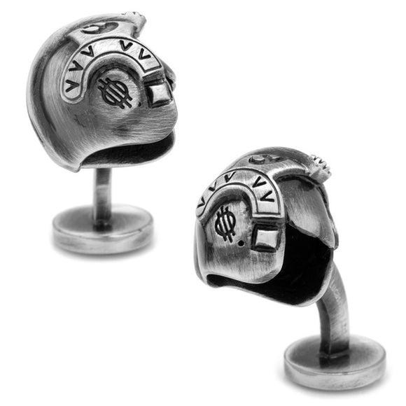 Star Wars Luke Skywalker Helmet 3D Antique Finish Silver Cufflinks - Official Cufflinks Inc :: Mental XS Online