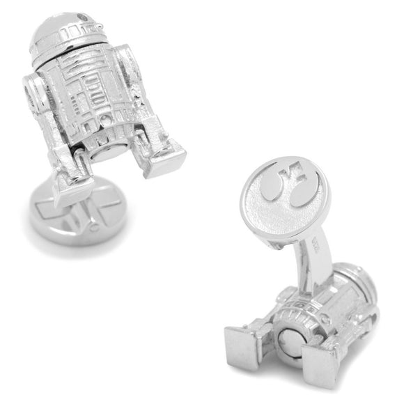Star Wars R2-D2 3D Sterling Silver Cufflinks - Official Cufflinks Inc :: Mental XS Online
