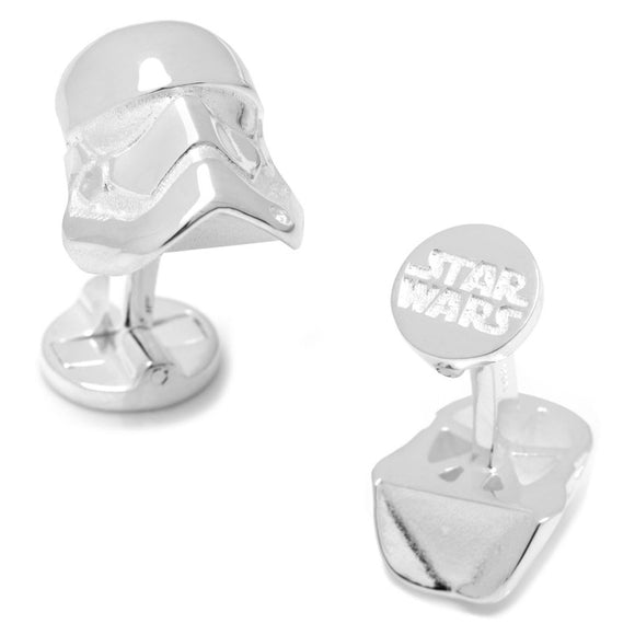 Star Wars Stormtrooper Helmet 3D Sterling Silver Cufflinks - Official Cufflinks Inc :: Mental XS Online